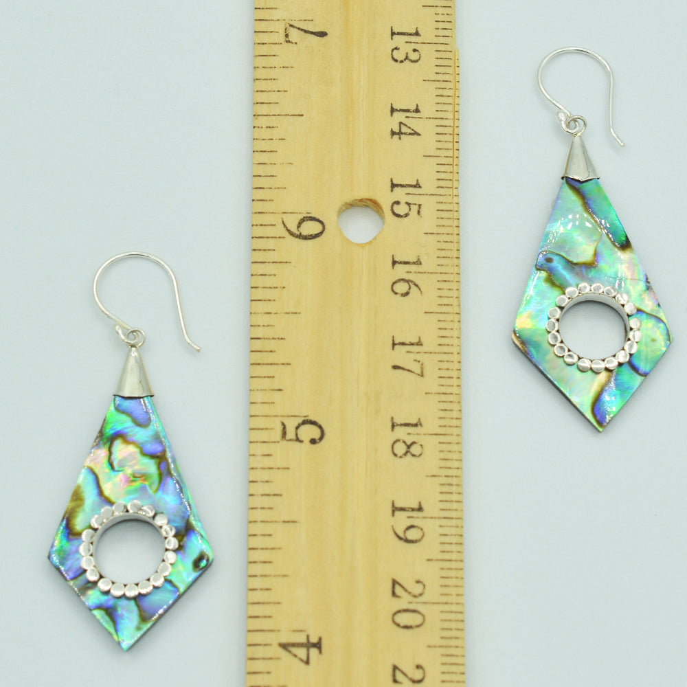 Abalone or Mother of Pearl Sterling Silver Earrings
