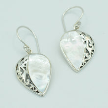 Load image into Gallery viewer, Mother of Pearl or Red Coral or Abalone Sterling Silver Earrings