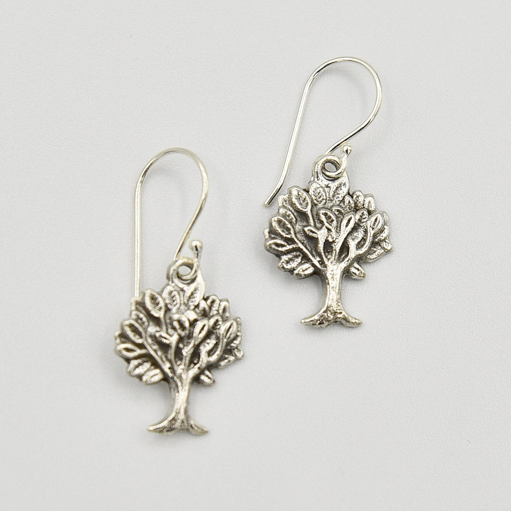 Image of Tree of Life Sterling Silver Earrings