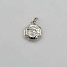 Load image into Gallery viewer, Sterling Silver Locket Pendant - Octagon (8 sided) shape