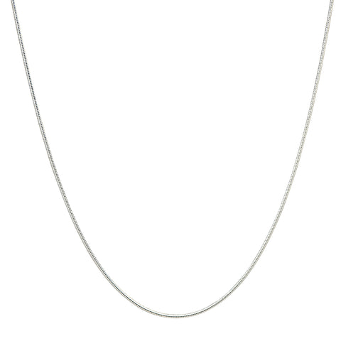 1MM Sterling Silver Snake Chain with Lobster Claw Clasp