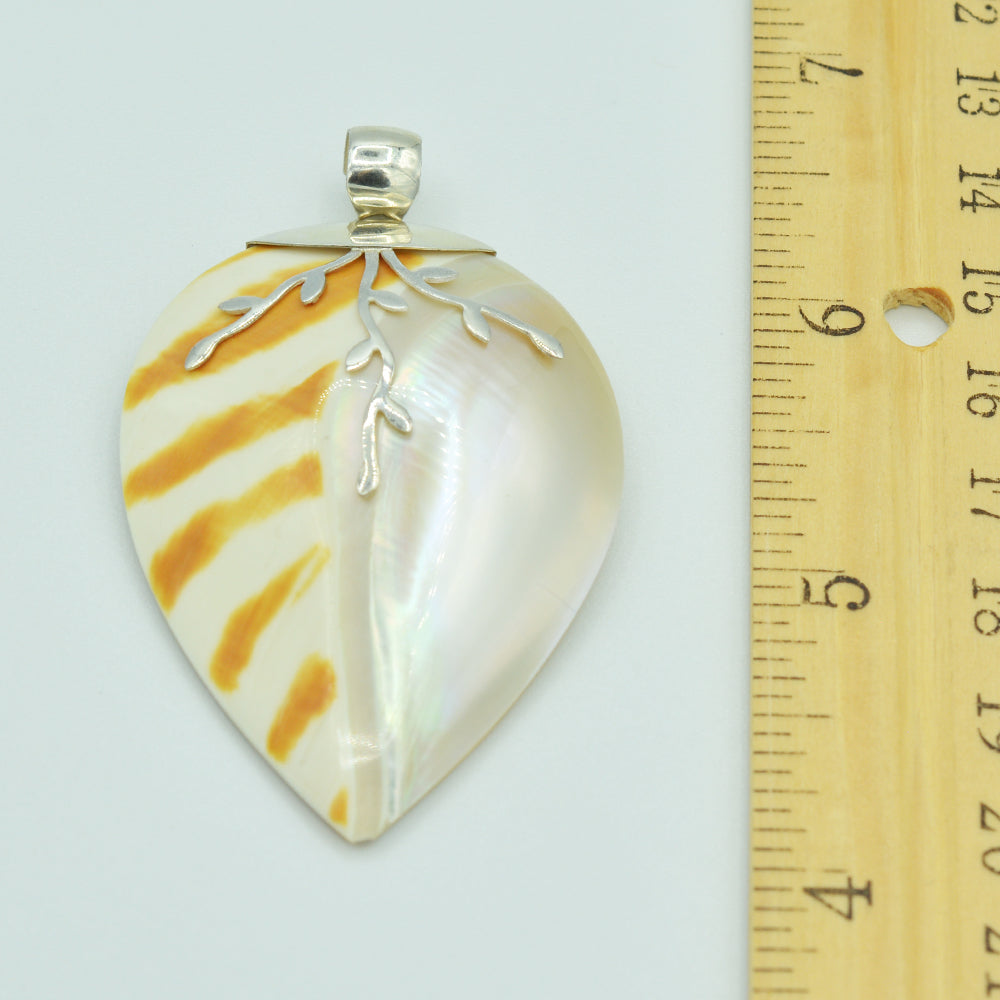 Mother of Pearl Sterling Silver Shell Pendant