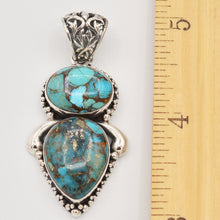 Load image into Gallery viewer, Turquoise Sterling Silver Pendant