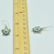 Load image into Gallery viewer, Sterling Silver Turtle Earrings with inlaid Mother-of-Pearl or Abalone
