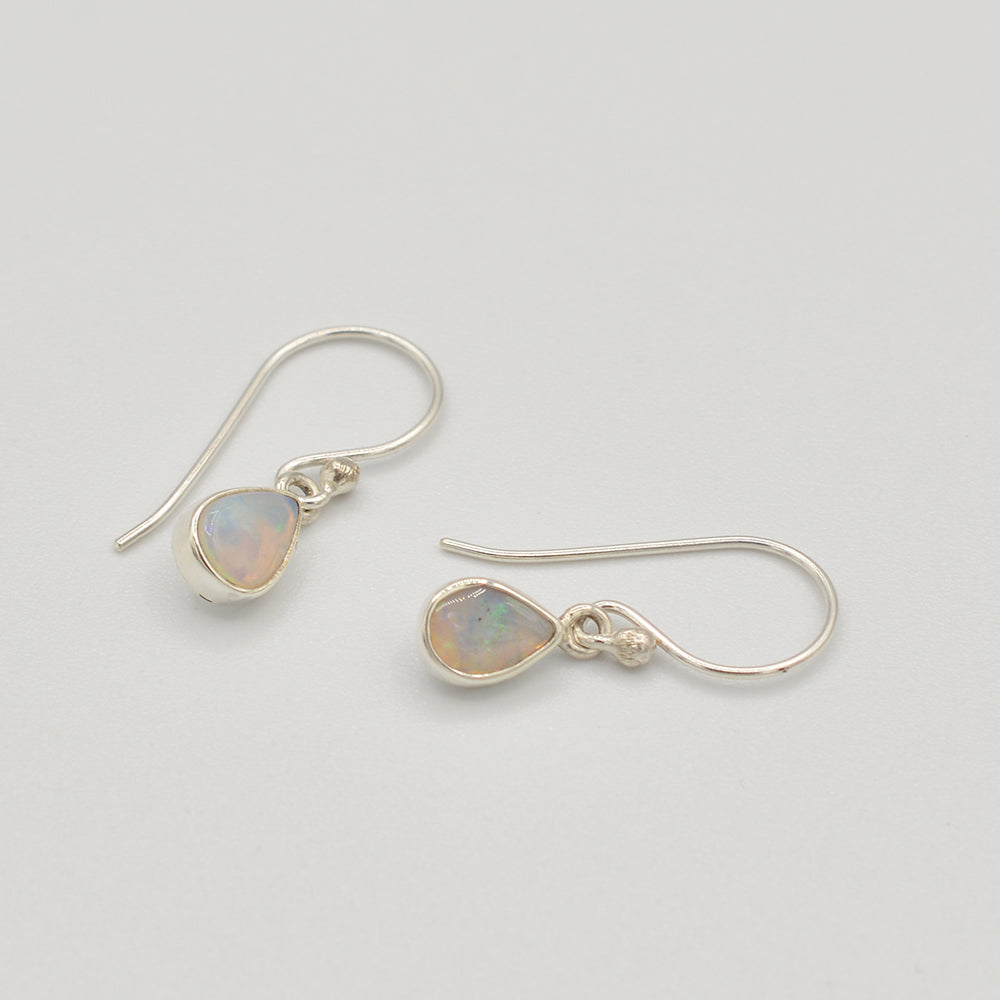 Opal Sterling Silver Stud Earrings