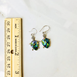 Abalone Turtle Earrings set in Sterling Silver
