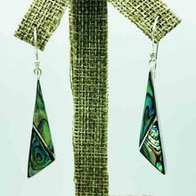 Load image into Gallery viewer, Sterling Silver and Abalone Earrings