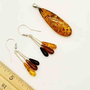 Genuine Amber Pendant and Sterling Silver