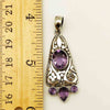 Amethyst and Sterling Silver Pendant