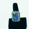 Charoite and Sterling Silver Ring-size 8
