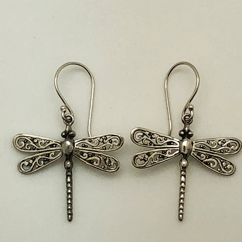 Sterling Silver Dragon Fly Earrings