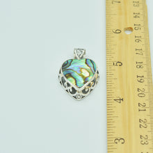 Load image into Gallery viewer, Abalone and Sterling Silver Heart Pendant