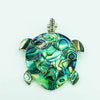 Abalone Sterling Silver Turtle Pendant or Pin/Brooch