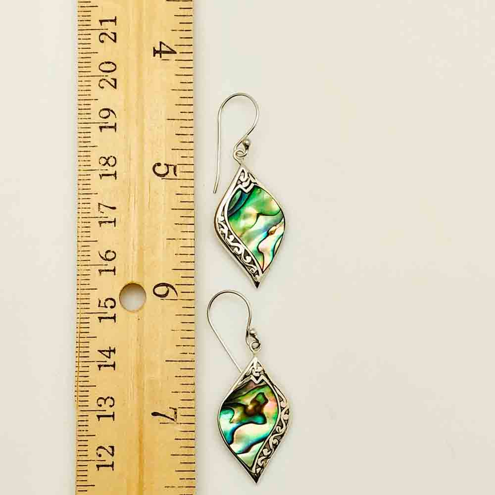 Abalone and Sterling Silver Earrings