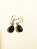 Tear Drop Sterling Silver Onyx Earrings