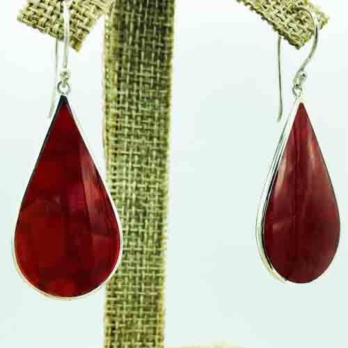 Mother of Pearl OR Red Coral Earrings-2 pair in one!