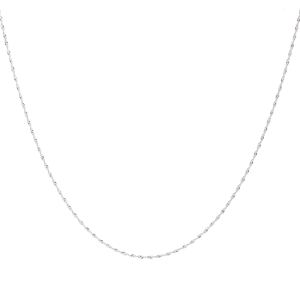 1.2MM Sterling Silver Singapore Chain with Lobster Claw Clasp