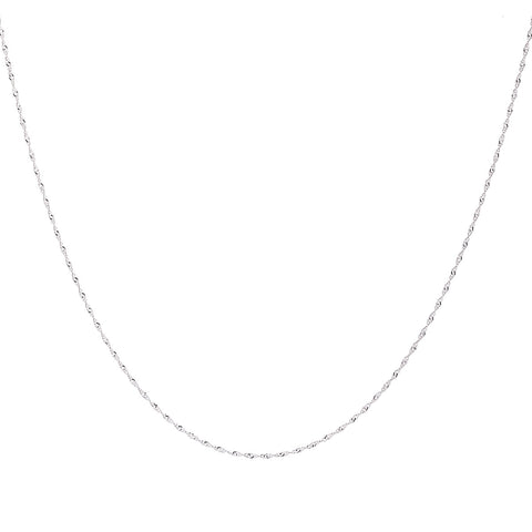 1.2MM Sterling Silver Singapore Chain with Spring Ring Clasp