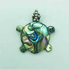 Abalone and sterling Silver Turtle Pendant