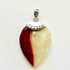 Mother of Pearl and Red Coral Pendant