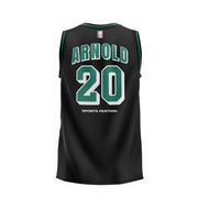 2020 Arnold Sports Black Green Basketball Jersey