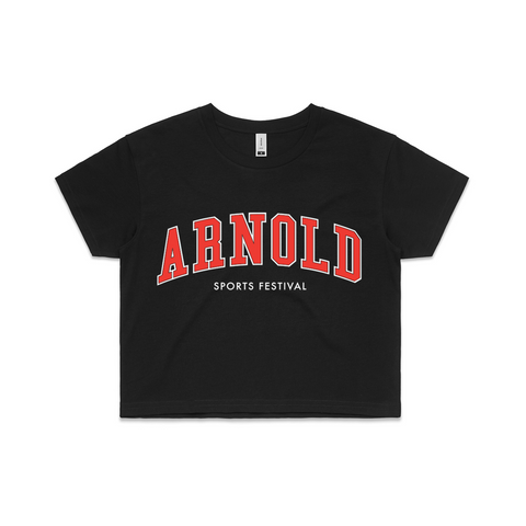 2020 Arnold College Crop Tee - Black
