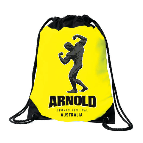 2019 Arnold Neon Yellow Drawstring Bag