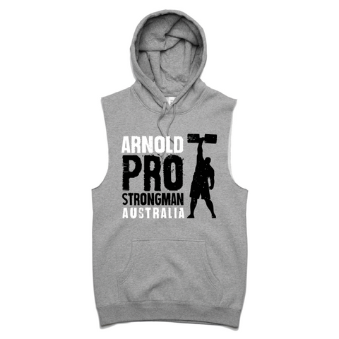 2019 Arnold Strongman Gret Sleeveless Event Hood
