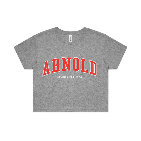 2020 Arnold College Crop Tee - Grey