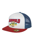 Arnold Navy / Red Trucker Cap
