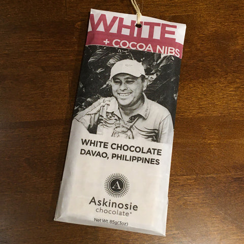Askinosie - Davao, Philippines - White Goat's Milk with Cocoa Nibs