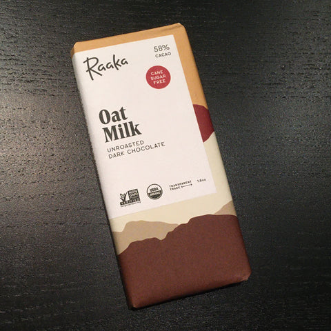 Raaka - Oat Milk Bar - 58% Milk Chocolate {VEGAN / Dairy-Free }