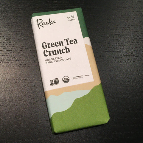 Raaka - Green Tea Crunch - 66% Dark Chocolate