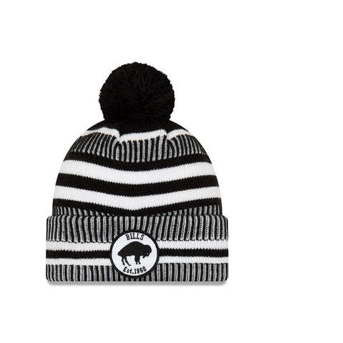 New Era Black & White Bills Knit Beanie