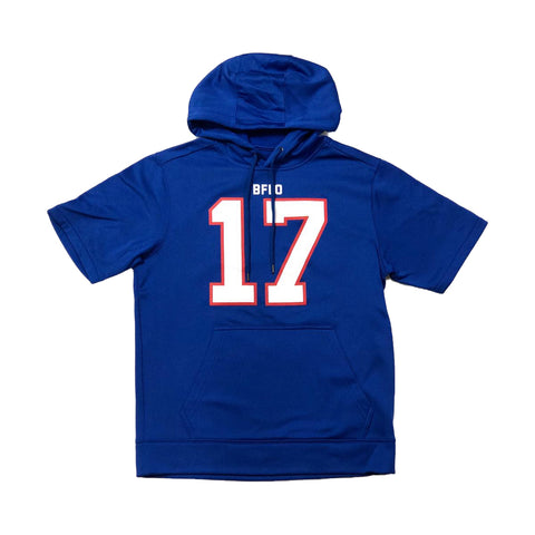 Royal Fleece Buffalo #17 Short Sleeve Jersey Hoodie