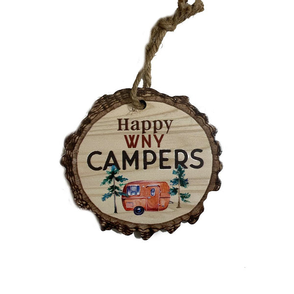 """Happy Campers"" Wooden Sign"