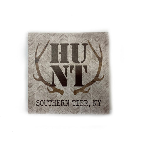 """HUNT Southern Tier"" Wooden Sign"
