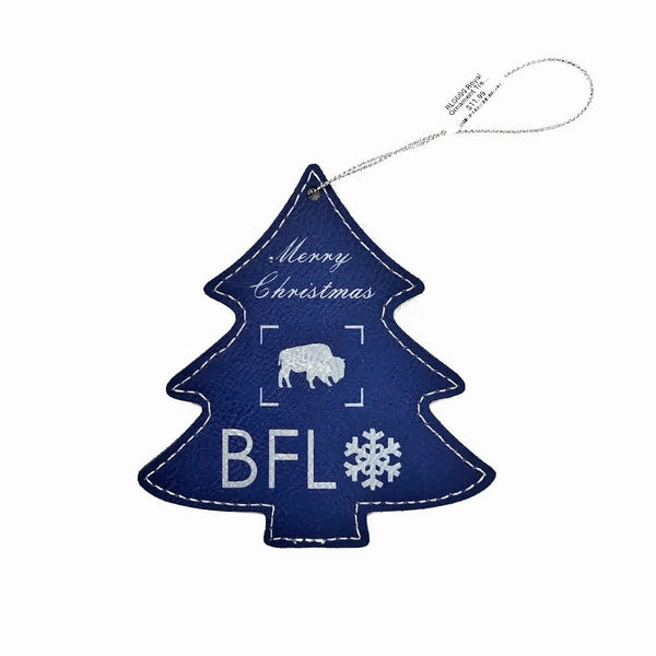 Christmas Tree BFLO Leatherette Ornament