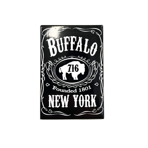 Black and White Buffalo New York Magnet