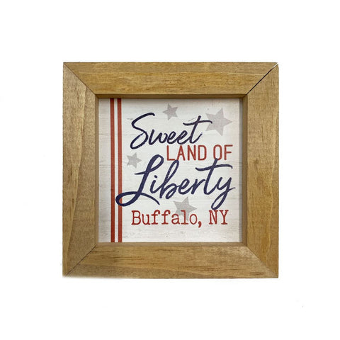 """Sweet Land of Liberty"" Sign"
