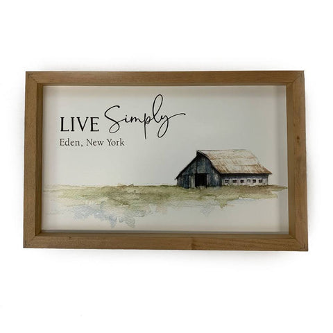 """Live Simply"" Wooden Sign"