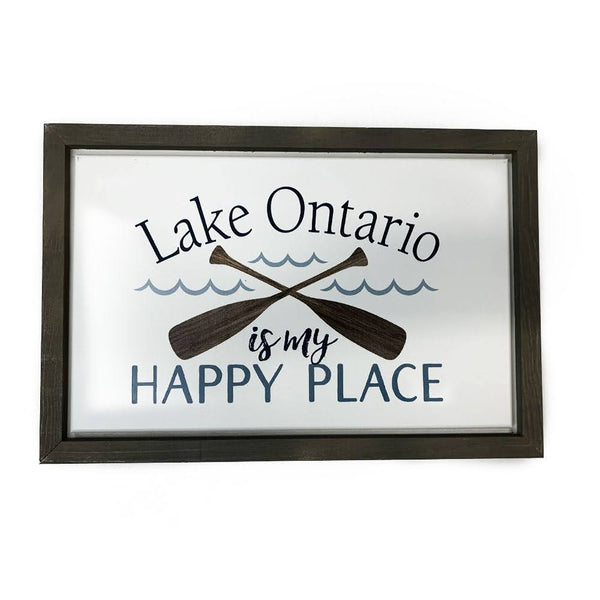 Lake Is My Happy Place Wooden Sign