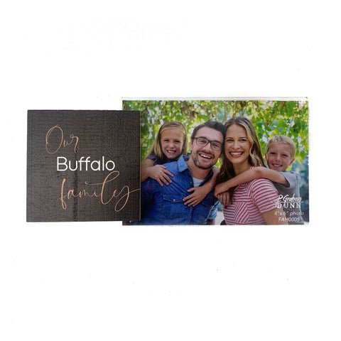 """Our Buffalo Family"" Photo Frame"