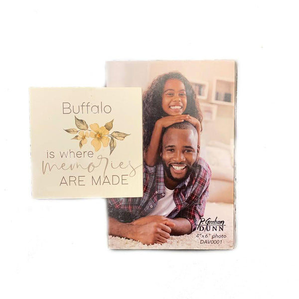"""Buffalo is where Memories are Made"" Photo Frame"