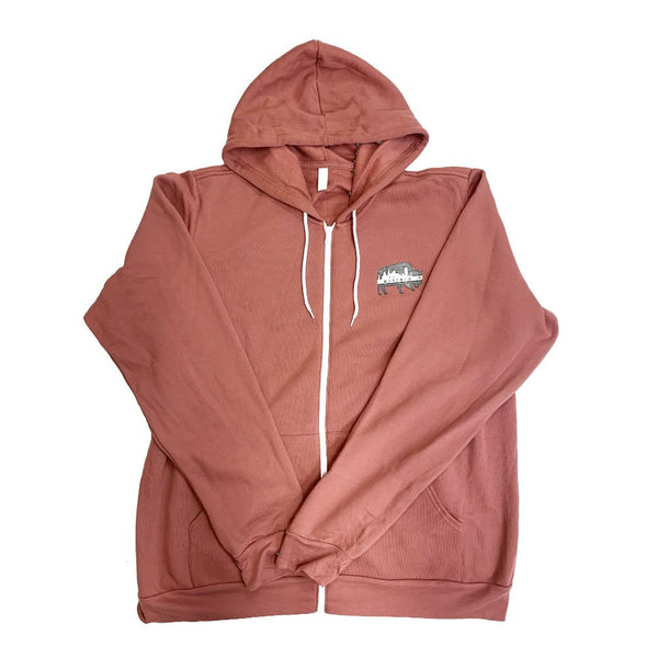 Fleece Zip-Up BFLO Hoodie