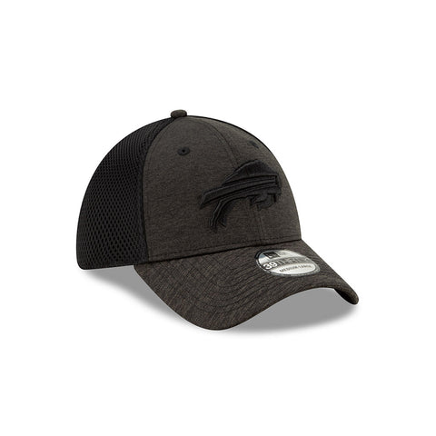 BLACK & GREY FITTED BUFFALO BILLS CAP