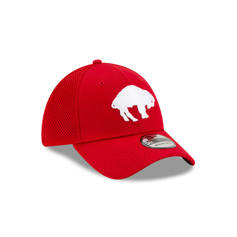 RED & WHITE FITTED THROWBACK BUFFALO BILLS CAP