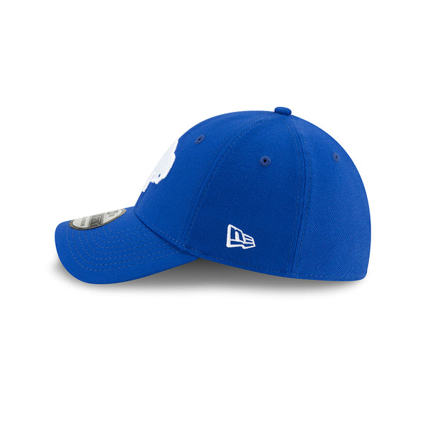 BLUE & WHITE FITTED THROWBACK BUFFALO BILLS CAP