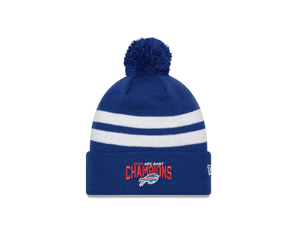 2020 Buffalo Bills AFC East Division Champions Official Pom Beanie