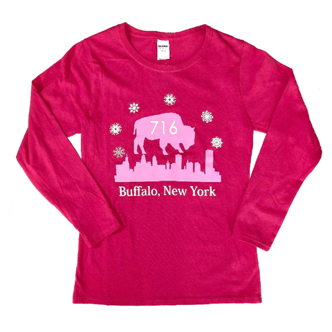Buffalo Winter 716 L/S Ladies Pink Shirt